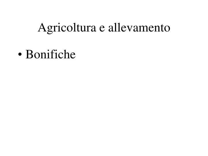 Agricoltura e allevamento