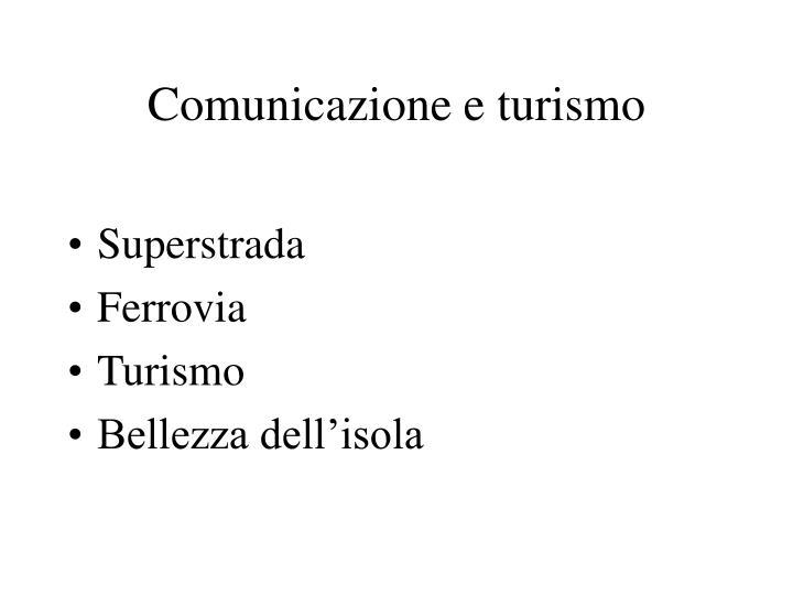 Comunicazione e turismo