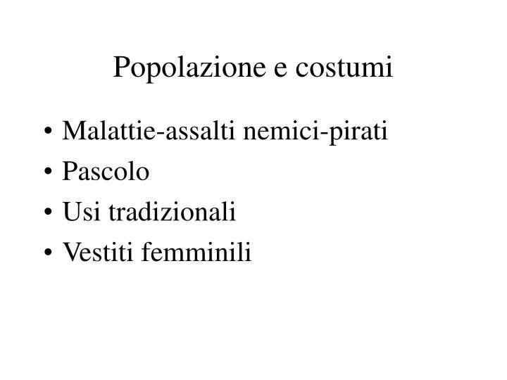 Popolazione e costumi