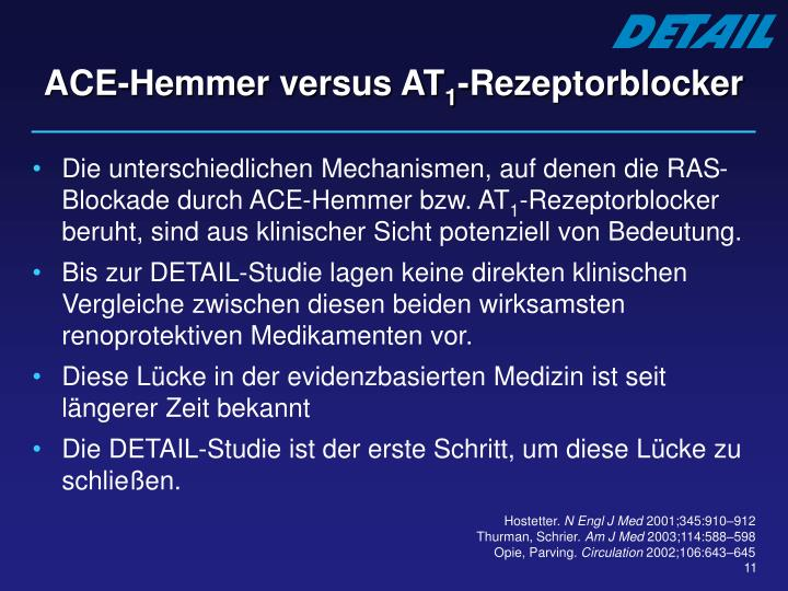 ACE-Hemmer versus AT