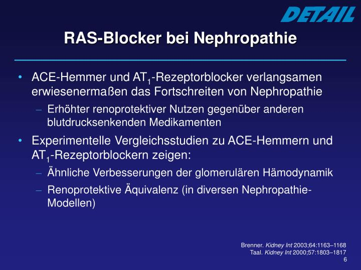 RAS-Blocker bei Nephropathie