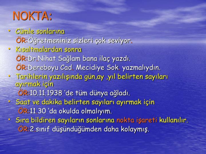 NOKTA: