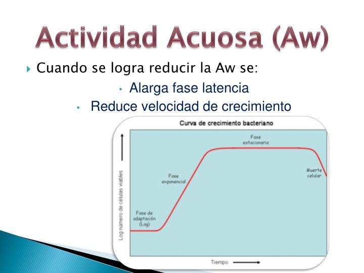 Actividad Acuosa (