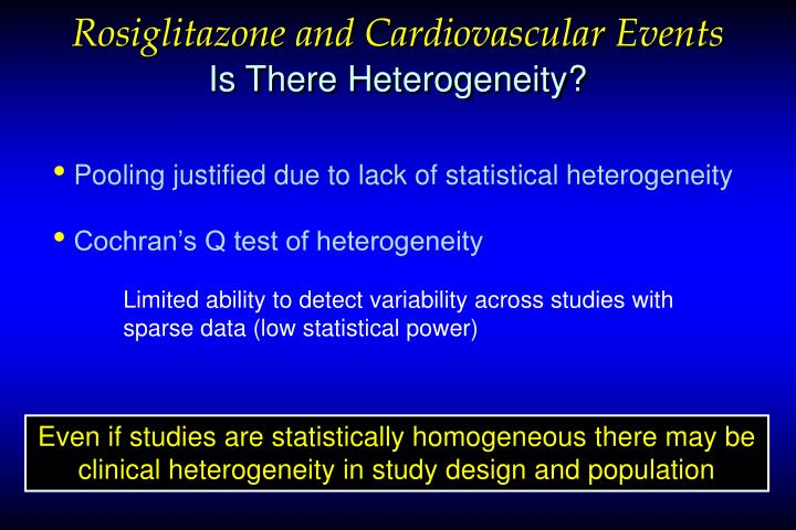 Rosiglitazone and Cardiovascular Events