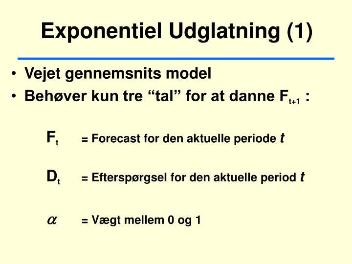 Exponentiel Udglatning (1)