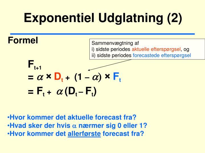 Exponentiel Udglatning (2)