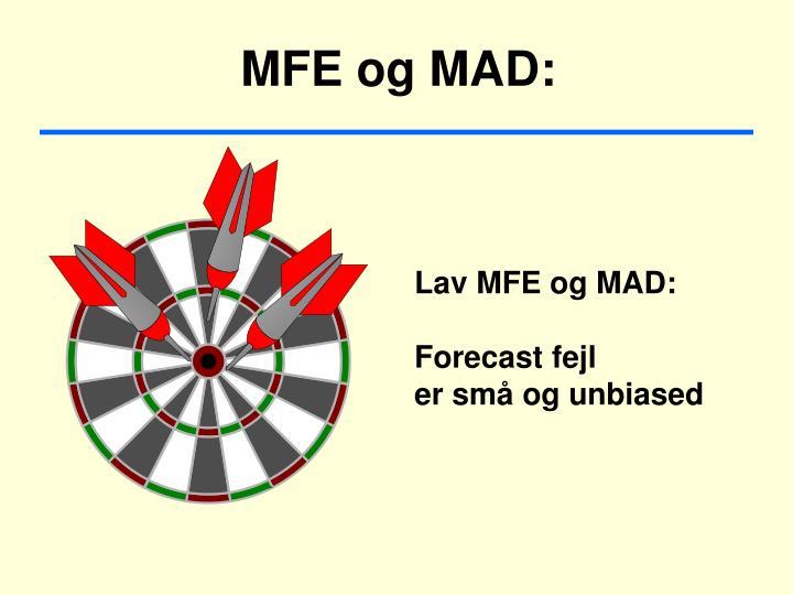 MFE og MAD: