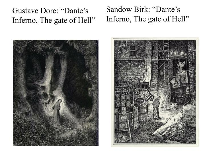 "Gustave Dore: ""Dante's Inferno, The gate of Hell"""