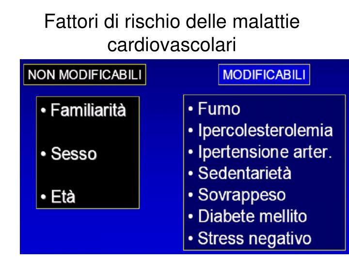 Fattori di rischio delle malattie cardiovascolari