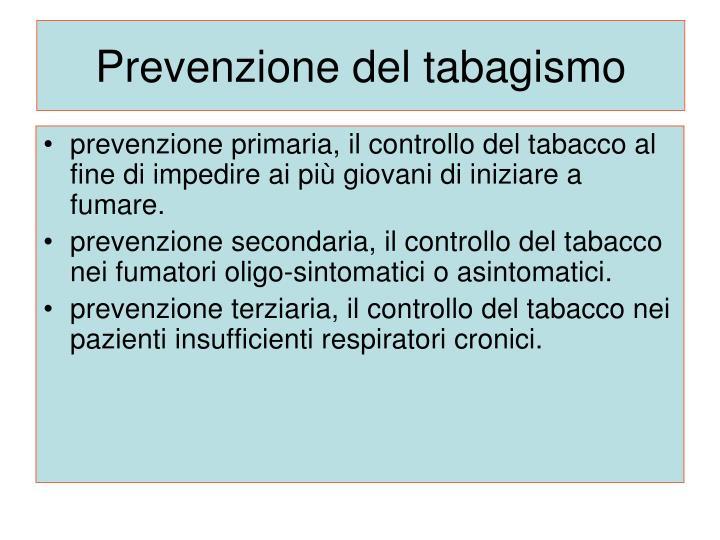 Prevenzione del tabagismo
