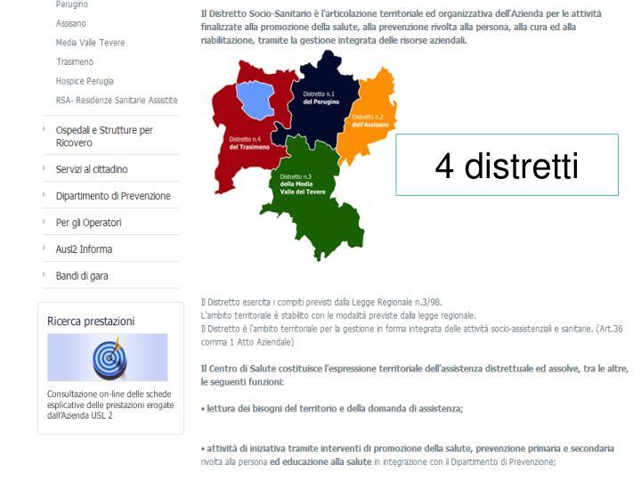 4 distretti