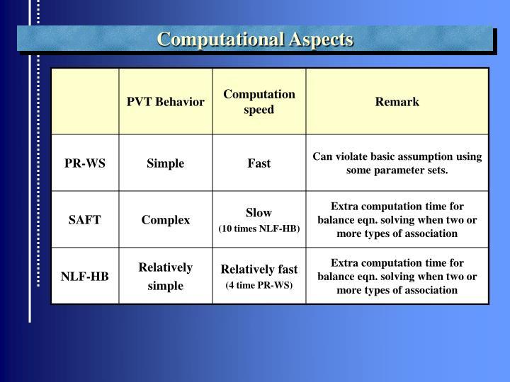 Computational Aspects
