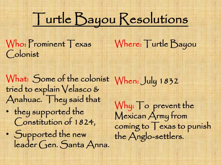 Turtle Bayou Resolutions