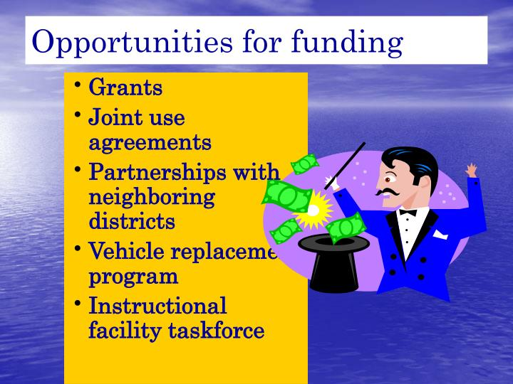 Opportunities for funding