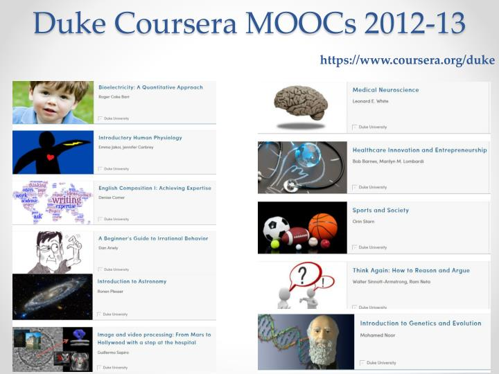 Duke Coursera MOOCs 2012-13
