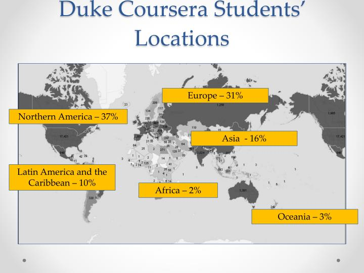 Duke Coursera Students' Locations