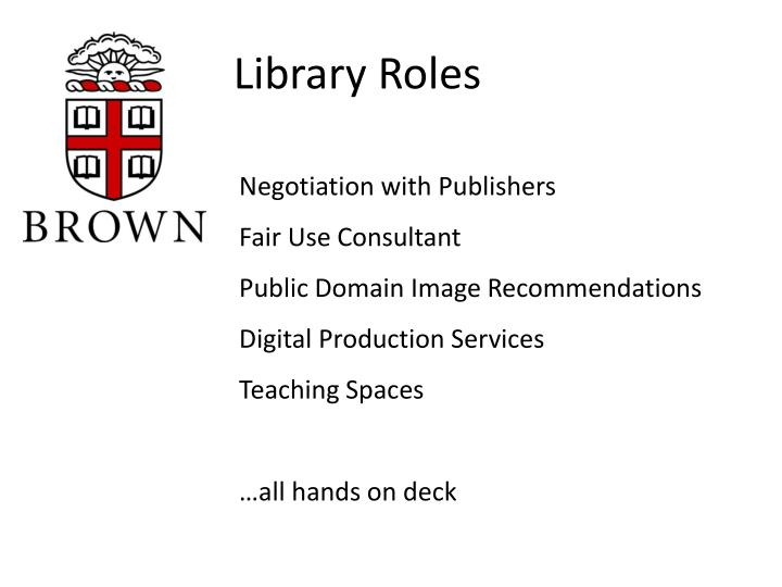 Library Roles