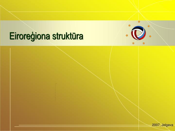 Eiroreģiona struktūra
