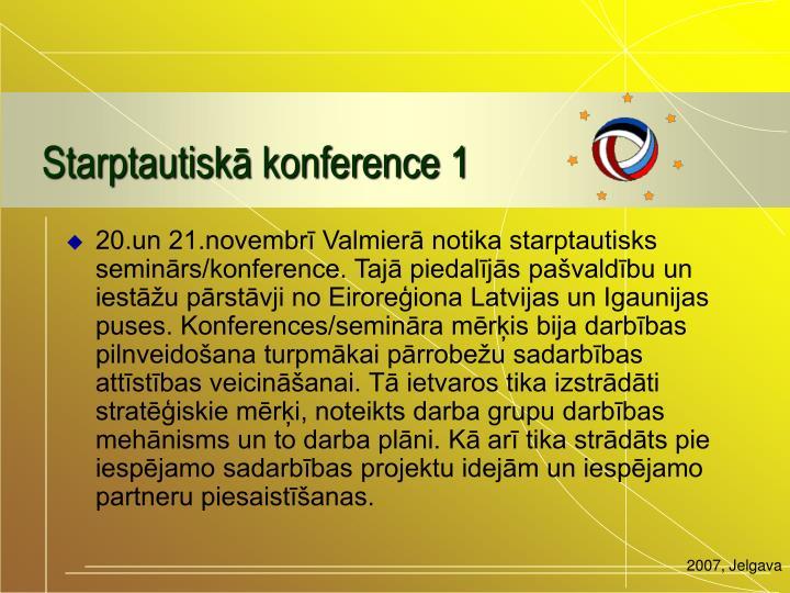 Starptautiskā konference 1