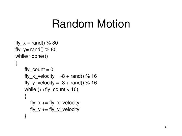 Random Motion