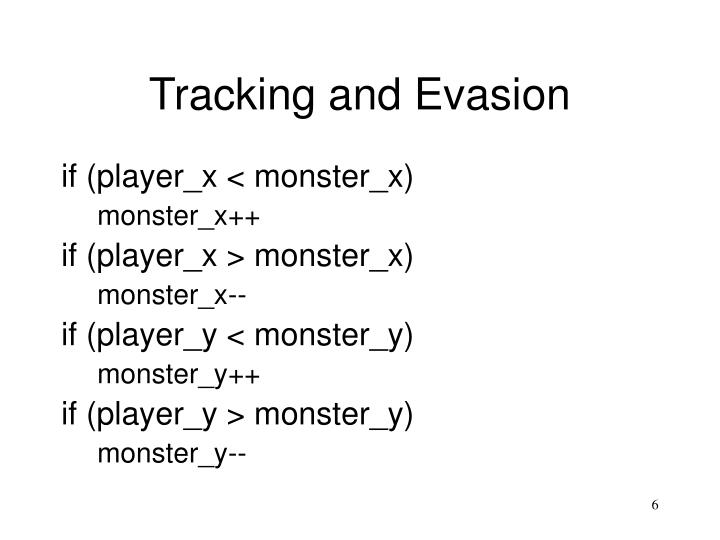 Tracking and Evasion