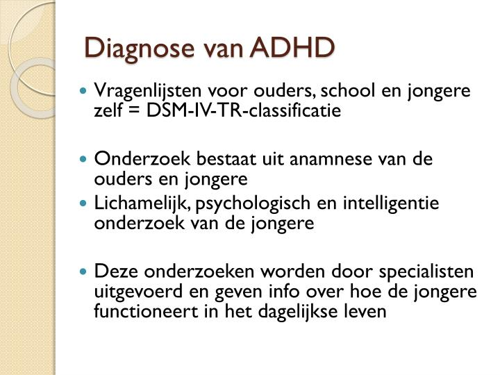 Diagnose van ADHD