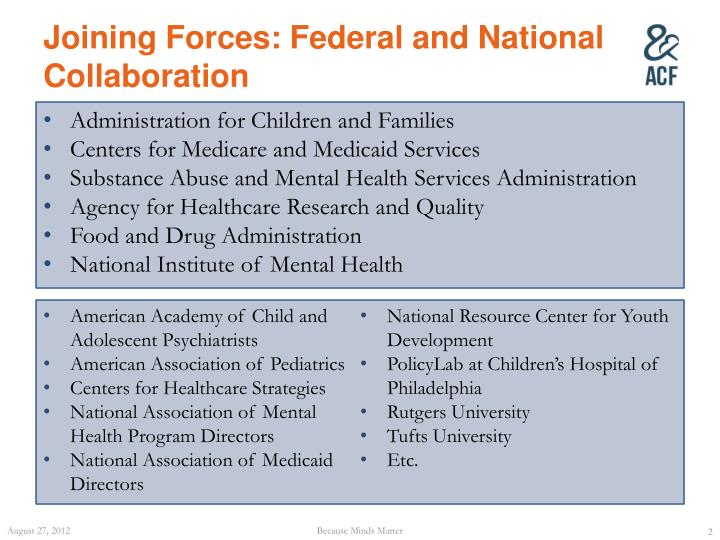 Joining Forces: Federal and National Collaboration
