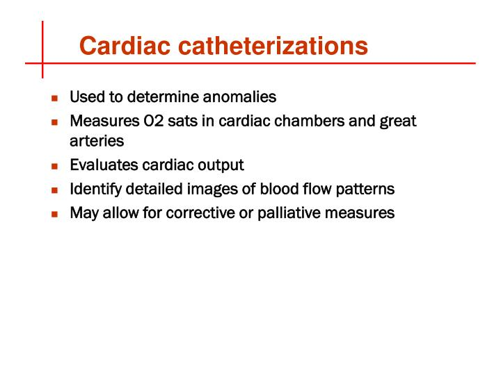 Cardiac catheterizations