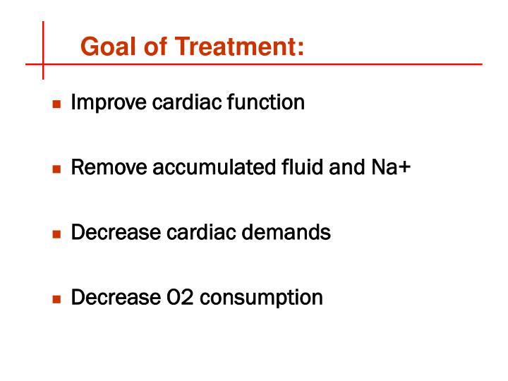 Goal of Treatment: