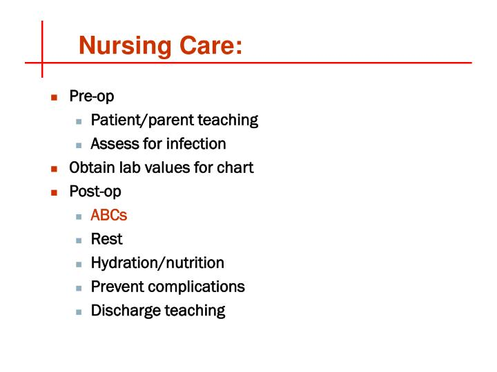 Nursing Care: