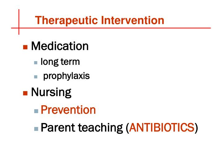 Therapeutic Intervention