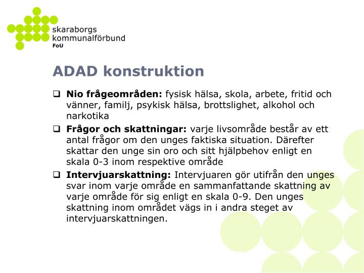 ADAD konstruktion