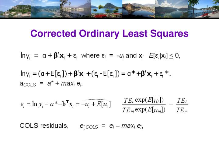 Corrected Ordinary Least Squares