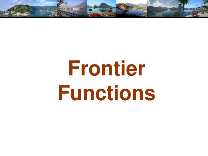 Frontier Functions