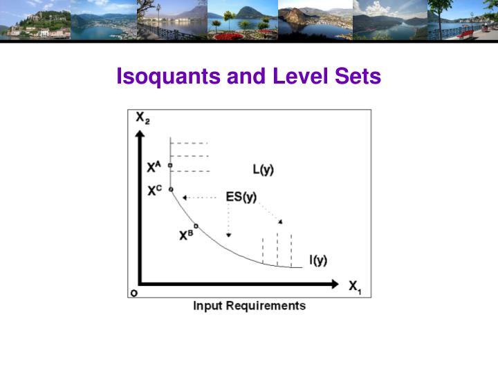 Isoquants and Level Sets