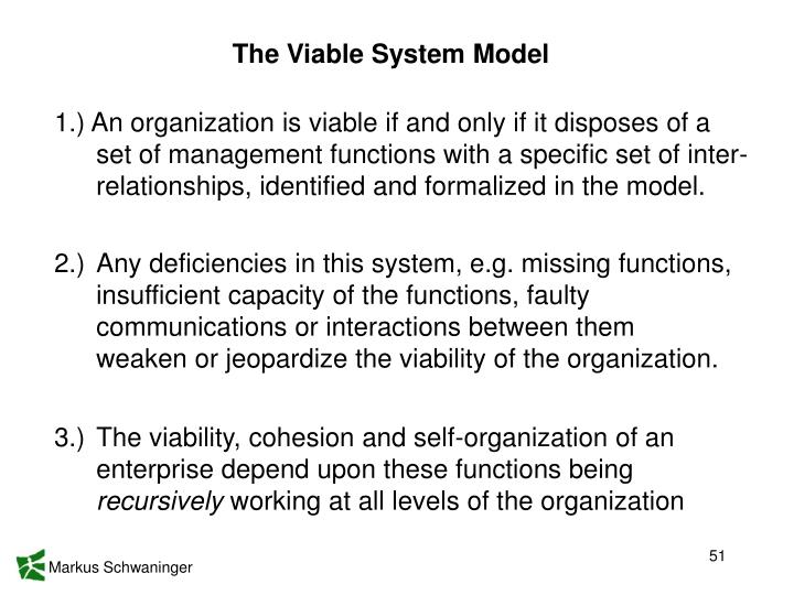 The Viable System Model