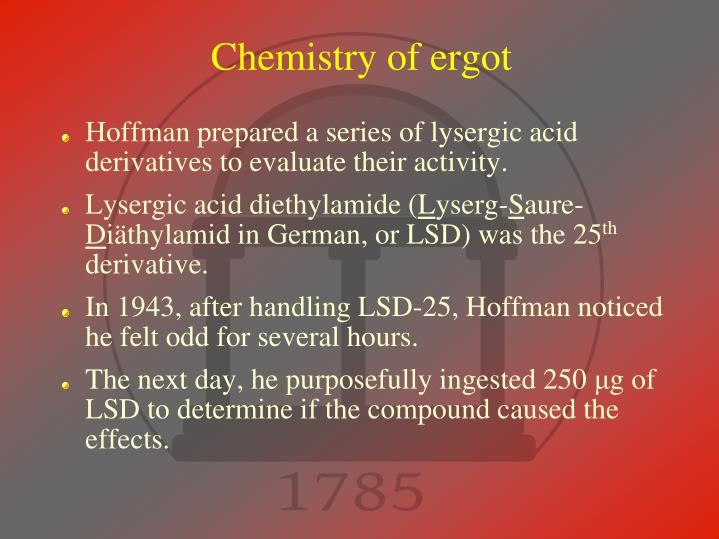 Chemistry of ergot