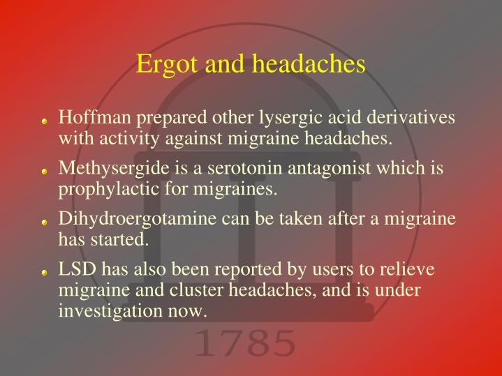 Ergot and headaches