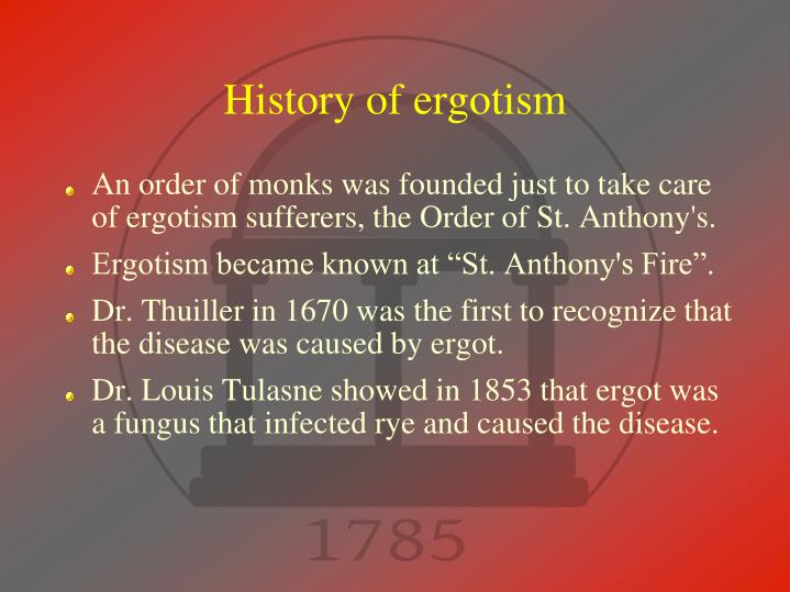 History of ergotism