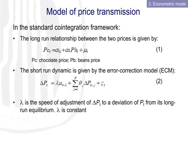 Model of price transmission