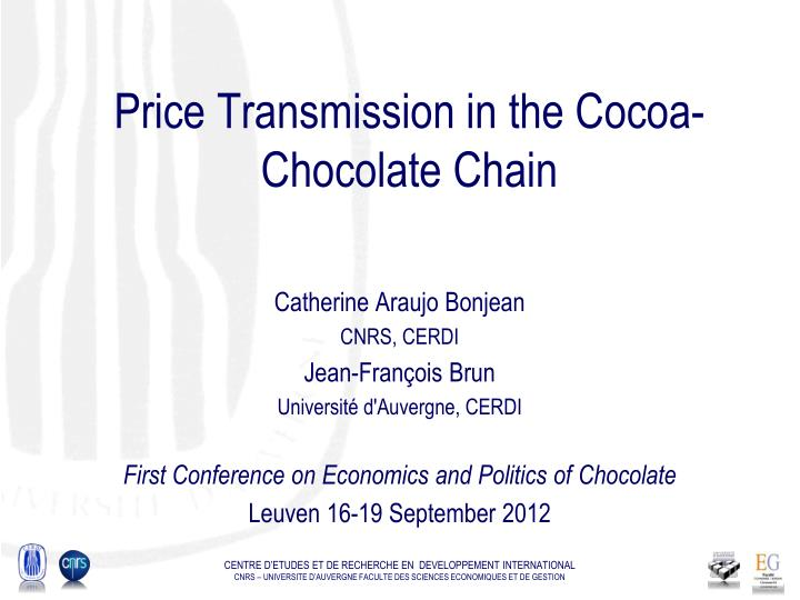 Price transmission in the cocoa chocolate chain
