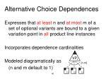 alternative choice dependences