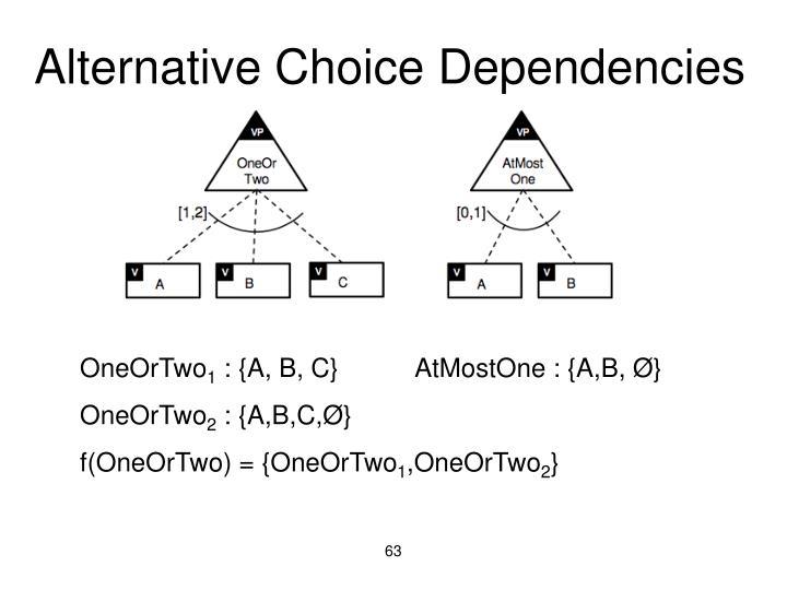 Alternative Choice Dependencies