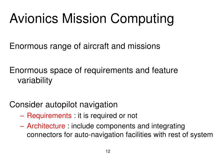 Avionics Mission Computing