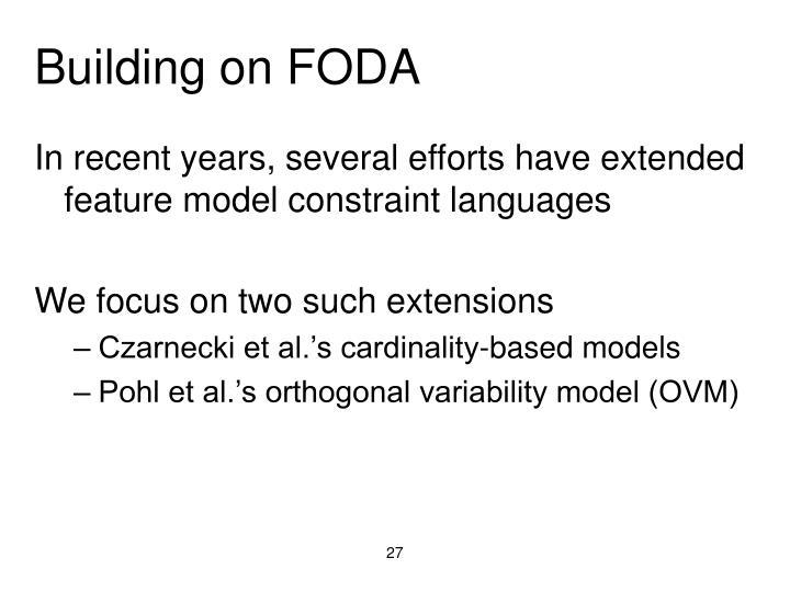Building on FODA