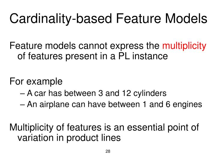 Cardinality-based Feature Models