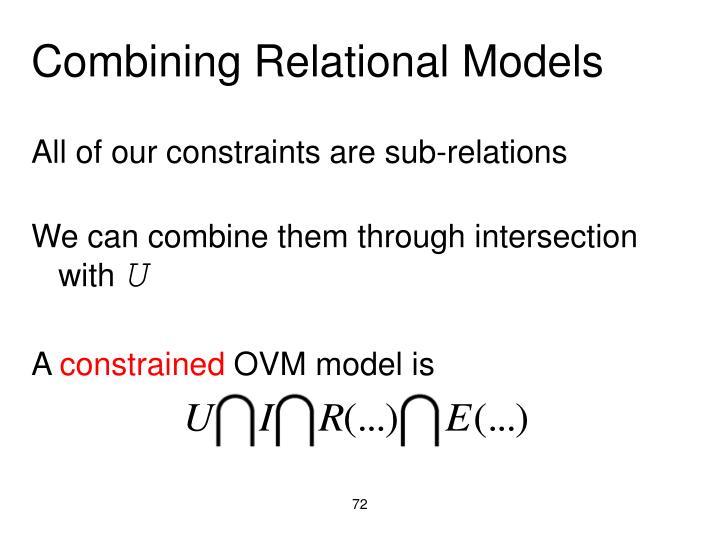 Combining Relational Models
