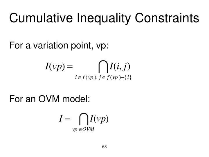 Cumulative Inequality Constraints