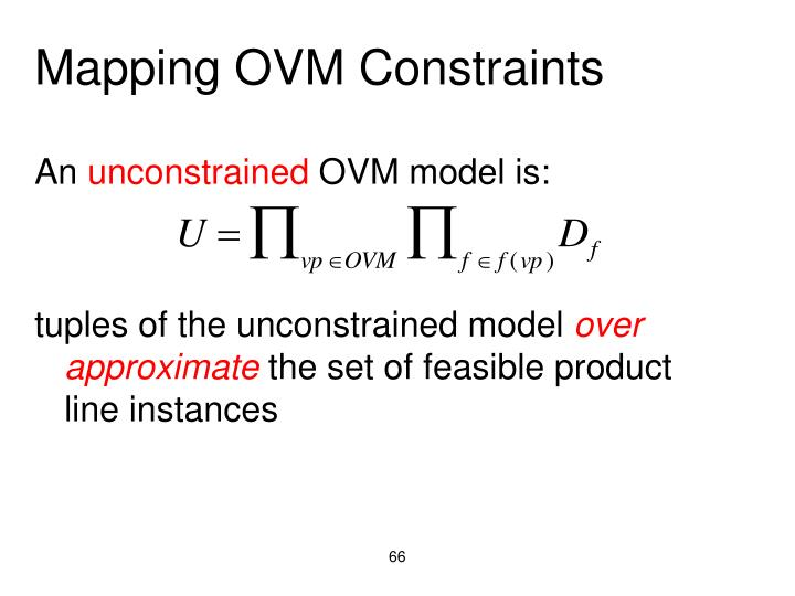 Mapping OVM Constraints