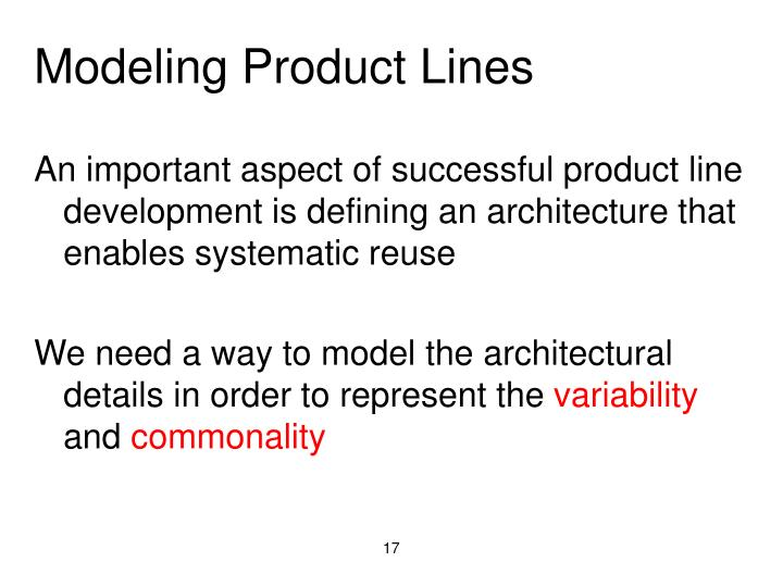 Modeling Product Lines